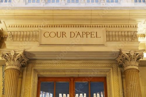 Fotografia, Obraz Fronton de la première chambre de la Cour d'Appel du Palais de Justice de Paris