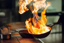 Modern Kitchen. Cooks Prepare ...