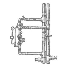 Illustration Of Piping System