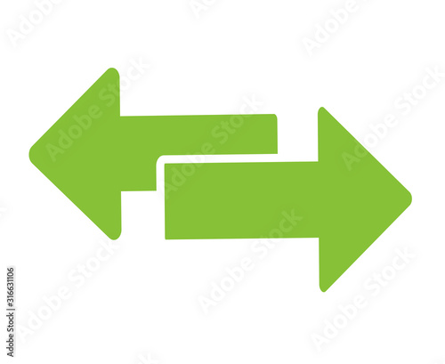 Fotografia Exchange arrow transfer icon, logo