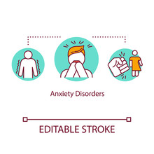 Anxiety Disorders Concept Icon...
