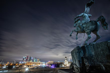 Russia Moscow Night Victory Park