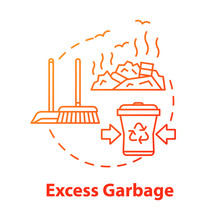 Excess Garbage Concept Icon. T...