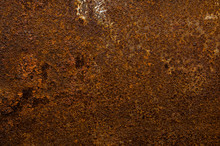 Orange Old Rusted Tin Backgrou...