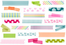 Collection Of Watercolor Washi...