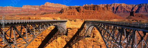 Photo This is a Navajo Bridge that crosses the Colorado River
