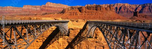 This is a Navajo Bridge that crosses the Colorado River Wallpaper Mural