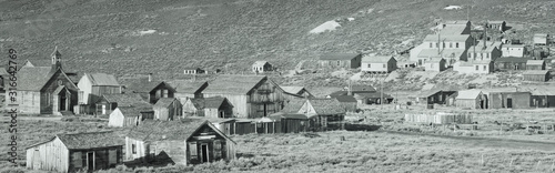 This is an old ghost town from around 1859. It was known as the Baddest Town in the West during the gold rush period.