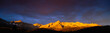 canvas print picture - These are the Sneffel Mountains at sunrise during summer. This is located at the Dallas Divide.