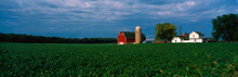 This Is A Farm With A Silo And...