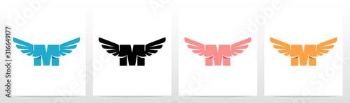 Wings On Letter Logo Design M Fototapete