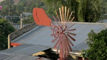 Rust Colored Spinning Windmill...