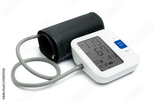 Cuadros en Lienzo Digital blood pressure monitor isolated on white