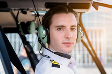 A Airline Pilot Wearing Unifor...