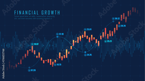 Stock market or forex trading graph in graphic concept Canvas-taulu