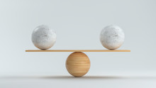 Wooden Scale Balancing Two Big...