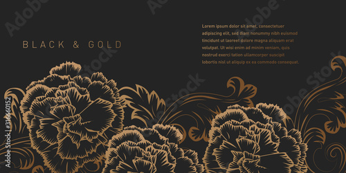 Fototapeta Black and Gold Background obraz