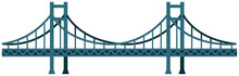 Seamless Bridge Vector Illustration / Blue