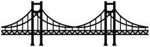 Seamless Bridge Vector Illustration / Monochrome, Black