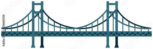 Bezszwowa bridżowa wektorowa ilustracja / błękit