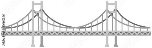 Bezszwowa bridżowa wektorowa ilustracja / siwieje