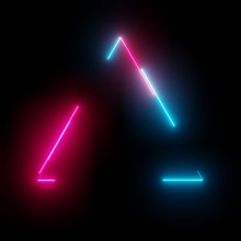 Neon Light Triangle Frame On D...