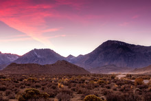 The Butttermilks In The Sierra Nevada Of California At Sunset