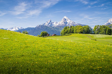 Idyllic Landscape In The Alps ...