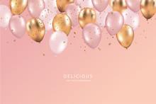 Glossy Happy Birthday Balloons...