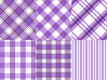 Checkered ,Gingham,Stripe Purple And White Pattern Background,vector Illustration