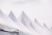 Top Of Large White Tent
