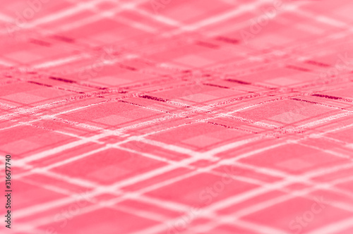Red and silver plaid pattern. Background graphic