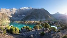 Tajikistan, Kulikalon Lake In Fann Mountains. Summer Day For Hiking In Mountains