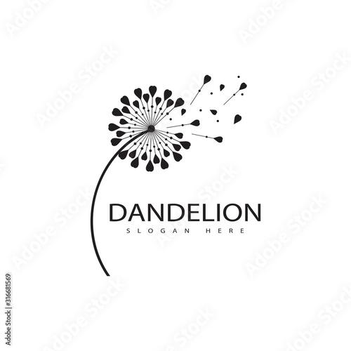 Fototapeta Dandelion vector icon design obraz