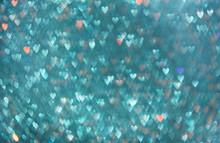 Blue Hearts Bokeh.