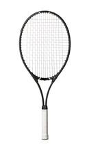 Black Tennis Racket Isolated O...