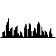 Modern City skyline . city silhouette. vector illustration