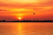 Siesta Key Beach At Sunset, Fl...
