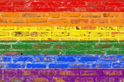 Drapeau arc-en-ciel, couleurs LGBT Wallpaper Mural