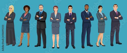 Fotografia, Obraz Diversity business people
