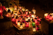 Candle Lights At Night On All ...