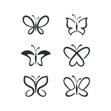 Butterfly Icon Set. Concept Lo...