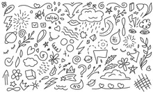 Doodle Background. Hand Drawn ...