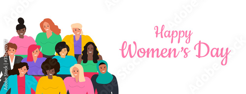 Fototapety, obrazy: happy international women's day vector illustration