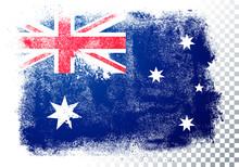 Vector Illustration Vintage Grunge Texture Flag Of Australia