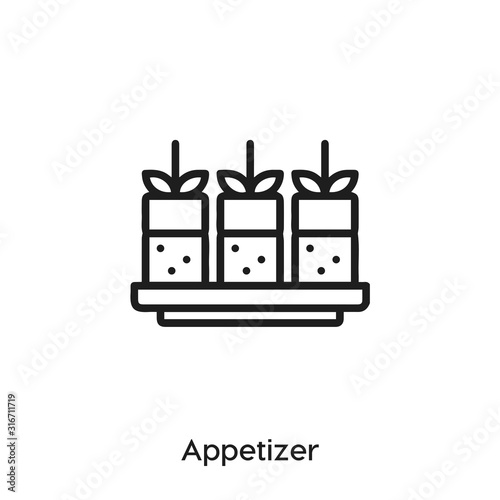 Photo Appetizer icon vector
