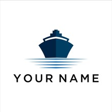 Ship Vector Logo Graphic Abstr...