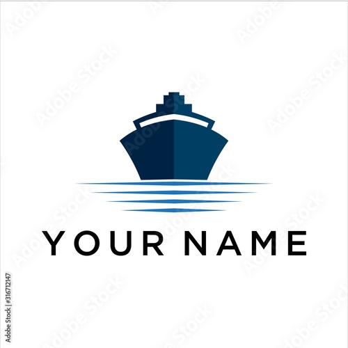 Fotografía ship vector logo graphic abstract modern