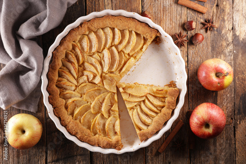 Valokuva apple pie- homemade gourmet apple pie