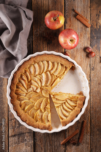 Photo  apple pie- homemade gourmet apple pie